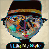 I like my style — Stock Vector