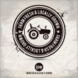 Alternative farm fresh & locally grown stamp — Vector de stock