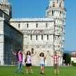 Tourists in Pisa — Stock Photo