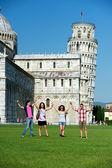 Tourists in Pisa — Stock Photo