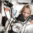 Child rogue riding motorcycle — Stock Photo #12705808