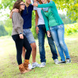 Royalty-Free Stock Photo: Group of teenagers posing for a photography