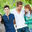 Group of Teenage Friends Outdoor — Stock Photo #15715191