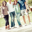 Group of Teenage Friends Outdoor — Stock Photo #15715691