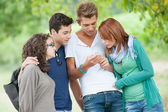 Group of Teenage Friends Outdoor — Stock Photo