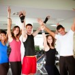 Group of at Gym — Stock Photo
