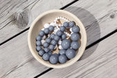 Beads in bowl — Stock Photo