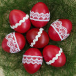 Decorated Easter eggs — Stock Photo
