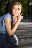 Portret pięknej dziewczyny — Zdjęcie stockowe