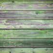 Green painted wood background — Stock Photo