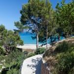 Beautiful small beach on the Spain coast — Stock Photo