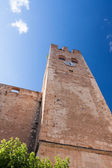 Very old tower in in small Spanish town — Stock Photo