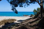 Krásná malá pláž ve španělsku — Stock fotografie