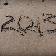 Numbers 2013 on beach sand for calendar — Stock Photo