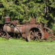 Stock Photo: Old rusty farming tractor