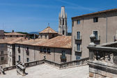 View from dome stairs in Girona old town in Spain — Stock Photo