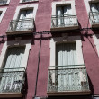 Stock Photo: Balcony and windows of spain