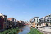 View from the bridge in Girona old town in Spain — Stock Photo