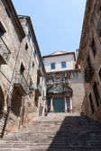 Ancient construction in Girona old town of Spain — Stock Photo