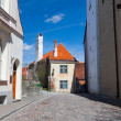 Colorful street in the Old Town of Tallinn — Stock Photo