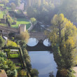 Early morning Luxembourg city panorama - Stock Photo