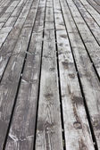 Aged gray wooden floor — Stock Photo