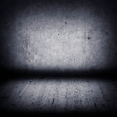 Dark concrete wall and floor — Stock Photo