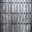 Big wooden door background — Stockfoto