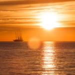 Old sail ship silhouette — Stock Photo