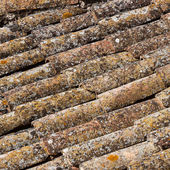 Old roof tiles pattern — Stock Photo