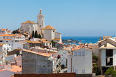 Panorama of white village Cadaques, Spain — Stock Photo