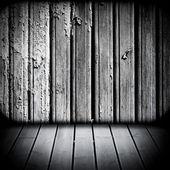 Wooden walls and floor — Stock Photo