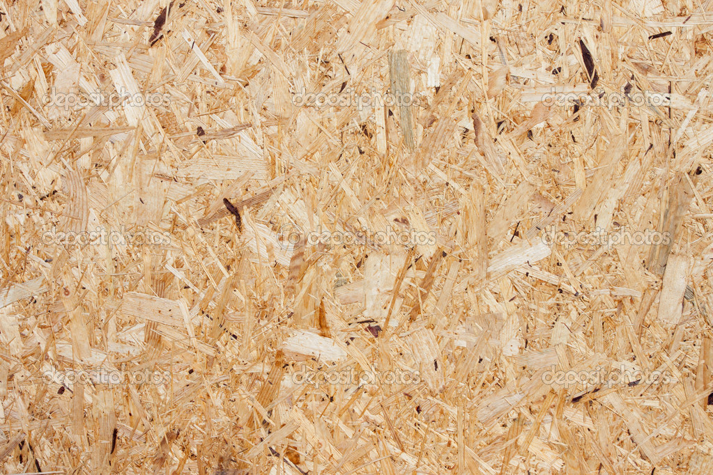 Recycled Compressed Wood Chippings Board Stock Photo