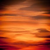 Dramatic sunset as sky background — Stock Photo