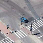 Auto op straat stad — Stockfoto