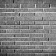 Grunge brick wall texture, black and white version — Stock Photo