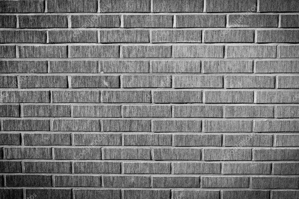 Grunge Brick Wall Texture Black And White Version Stock