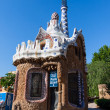 Stock Photo: BarcelonPark Guell Gingerbread House of Gaudi