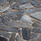 Granite gray flagstone pavement wall — Stock Photo