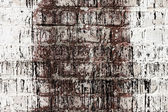 Brick white dirty wall background — Stock Photo
