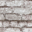 Brick white dirty wall background — Foto Stock