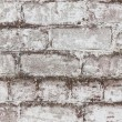 Brick white dirty wall background — Stock Photo #26331335