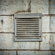 Metal ventilation window on wall background wall background — Stock Photo