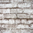 Brick white dirty wall background — Stockfoto