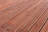 Wet wood terrace floor background — Foto Stock