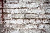 砖白脏墙背景 — 图库照片