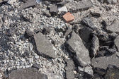 Concrete debris on construction site — Foto Stock