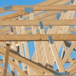 Stock Photo: New residential construction home framing