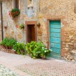 Old elegant doors of Tuscan Italy — Stock Photo