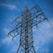 High-voltage tower sky background — Stock fotografie